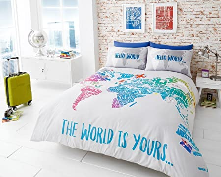 Printed duvet cover set soft extremely durable best quality printed duvet cover set soft extremely durable best quality world map design world gumiabroncs Images