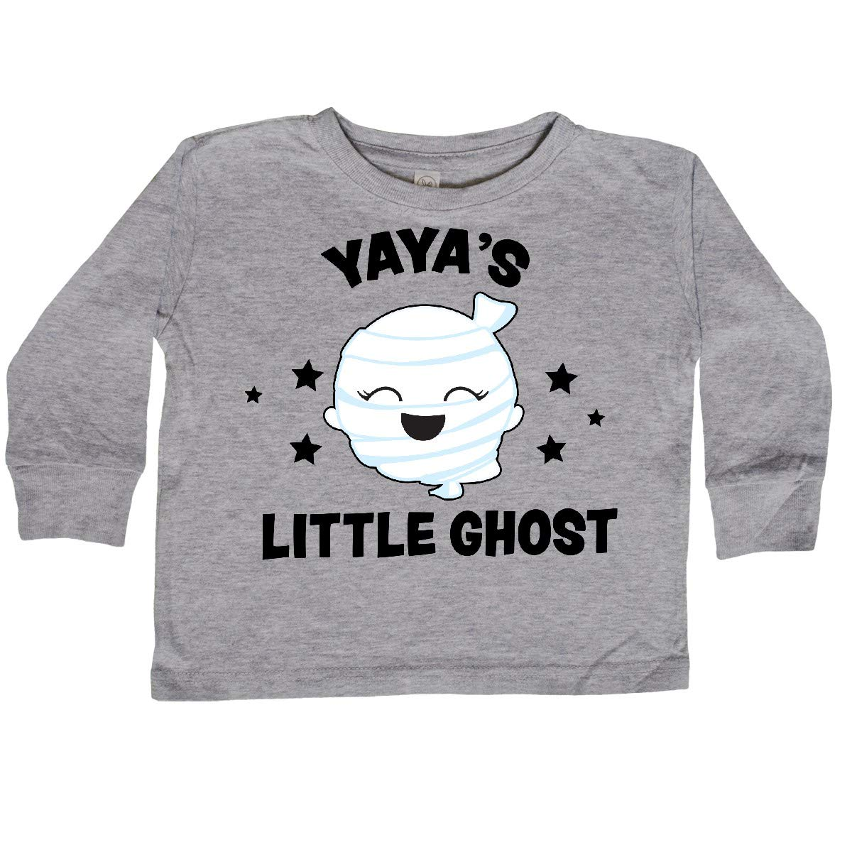 inktastic Cute Yayas Little Ghost with Stars Toddler Long Sleeve T-Shirt