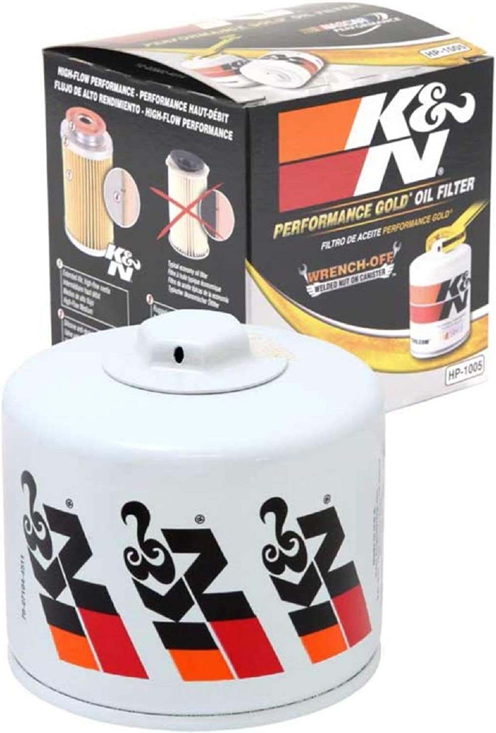 K&N Premium Oil Filter: Designed to Protect your Engine: Fits Select EAGLE/MITSUBISHI/DODGE/PLYMOUTH Vehicle Models (See Product Description for Full List of Compatible Vehicles), HP-1005