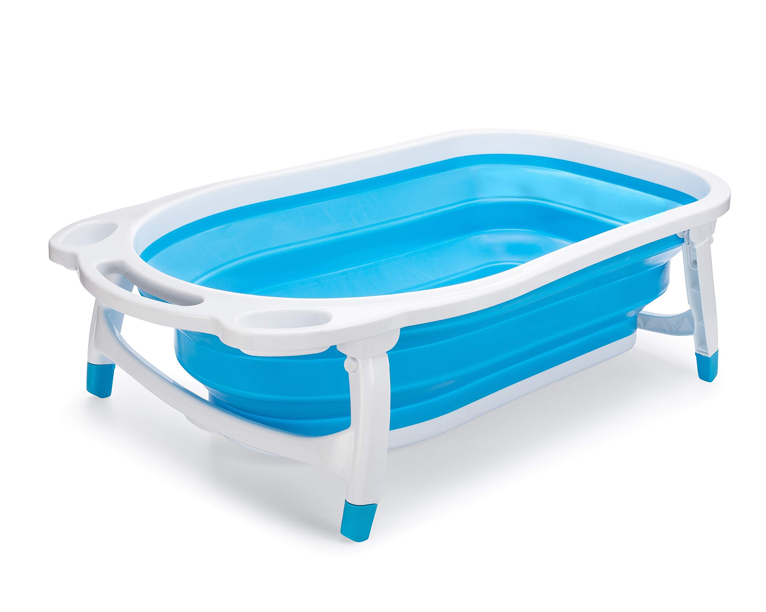 Collapsible Baby Bath Tub for Newborn Infant Child   Hypoallergenic Non-Slip Surface and Legs for Kids Safety   Bathing Made Easy and Portable by Foldable Technology by Vertex-llc