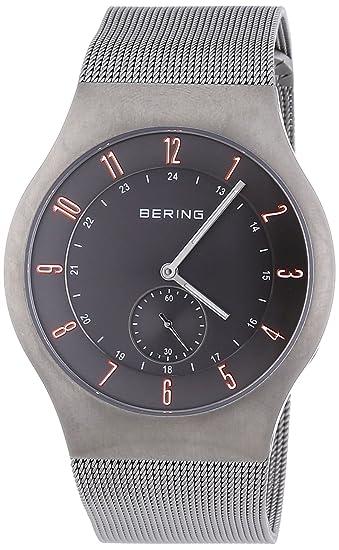 Bering Time Radio Controlled - Reloj de cuarzo para hombre, con correa de acero inoxidable, color plateado: Amazon.es: Relojes