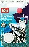Bottoni da ricoprire, colore argento, 6 pezzi, 15mm