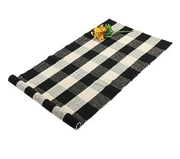 Homcomoda Küchenmatte Rutschfest Küche Teppich Läufer Teppich Für Küche  Waschbar 60cm X130cm (Schwarz Weiß