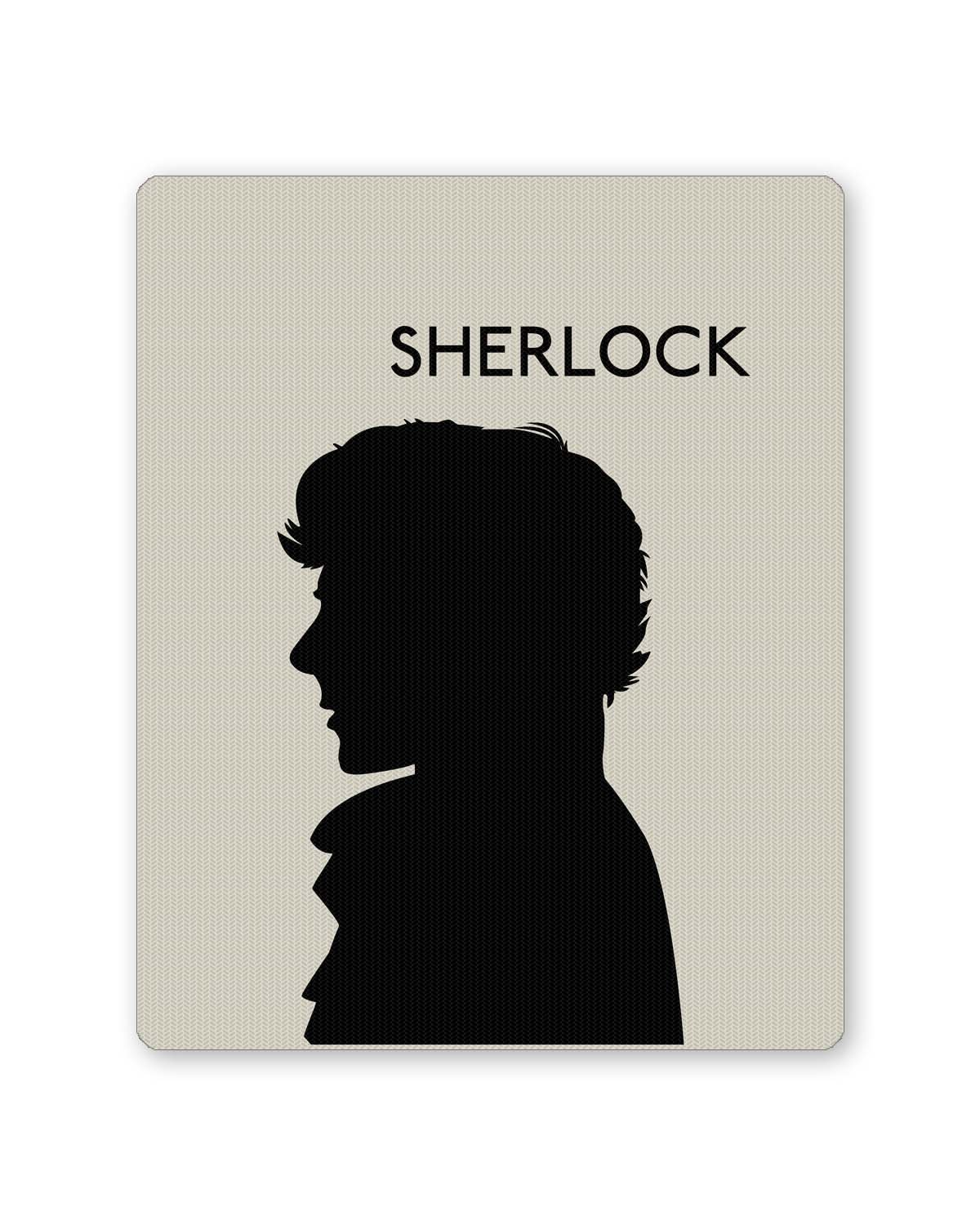 PosterGuy Sherlock Holmes 221B Silhouette Illustration White TV