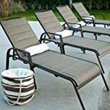 Amazon Com Cosco Outdoor Chaise Lounge Chair Adjustable
