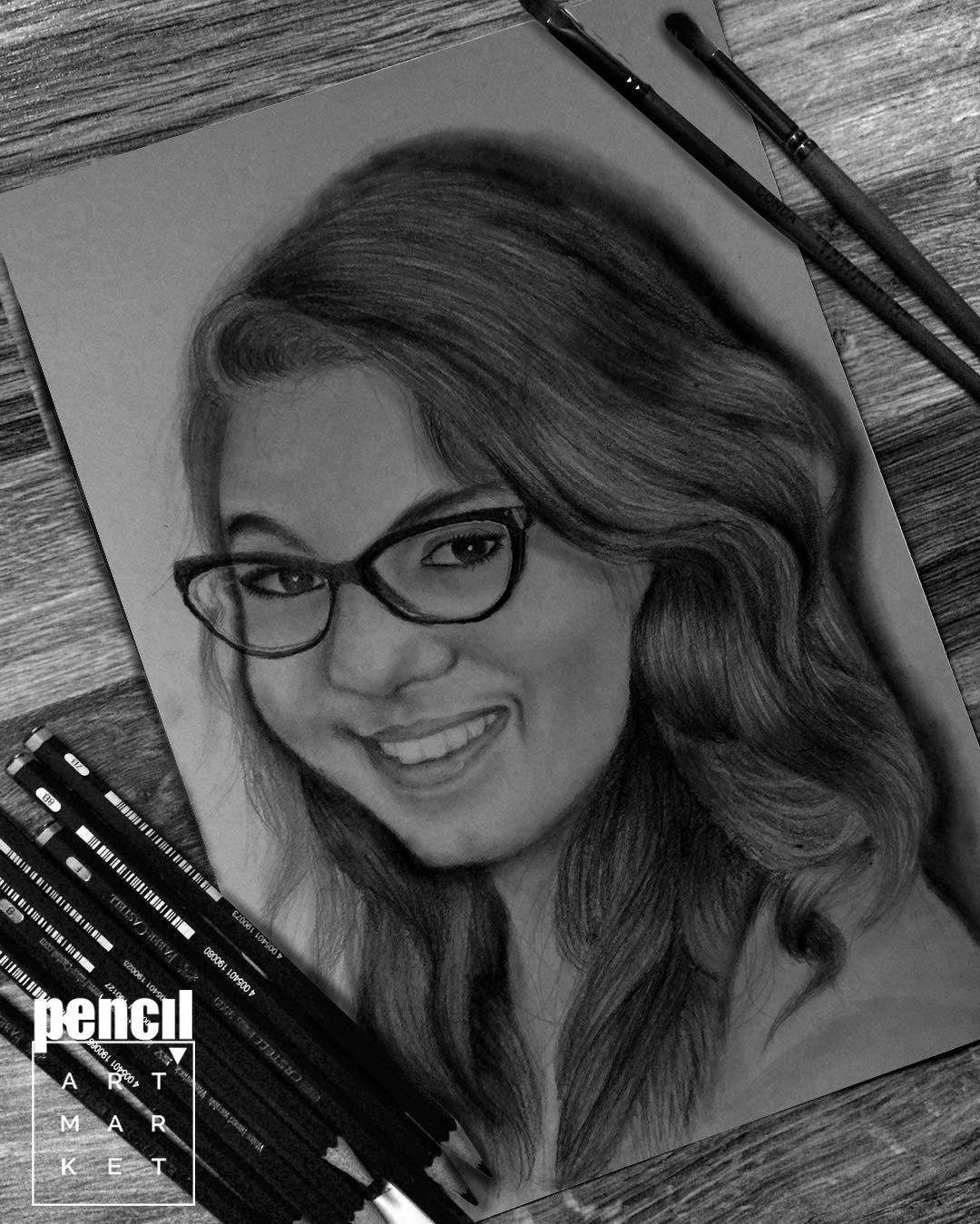 My magic gift pencil sketch portrait 12x18