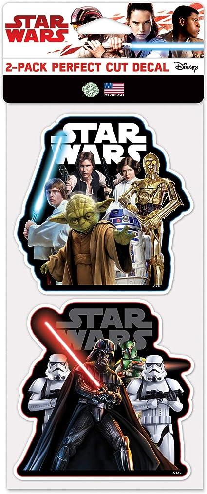Multicolor NA WinCraft Star Wars Star Wars Star Wars 4 x 4 Perfect Cut Color DecalWinCraft Star Wars 4 x 4 Perfect Cut Color Decal