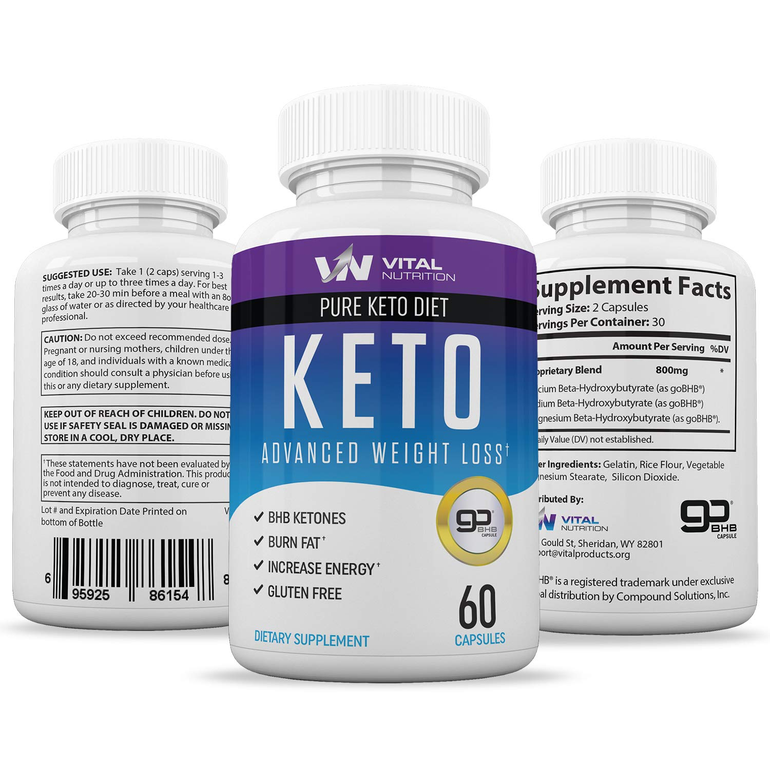 Pure Keto Diet Pills - Ketosis Supplement to Burn Fat Fast - Ketogenic Carb Blocker - Best Keto Diet Pills for Women and Men - Helps Boost Energy & Metabolism - 60 Capsules by Vital Nutrition (Image #4)