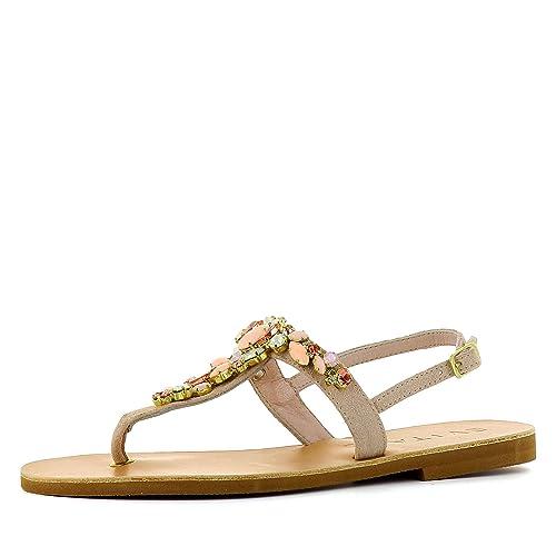 Evita Amazon De Mujer Shoes Sandalias Para Piel Vestir Greta ARAHqwr