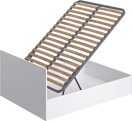 Marca Amazon - Movian Idro Modern - Base abatible para cama de matrimonio, 190 x 140 x 80 cm (blanco): Amazon.es: Hogar