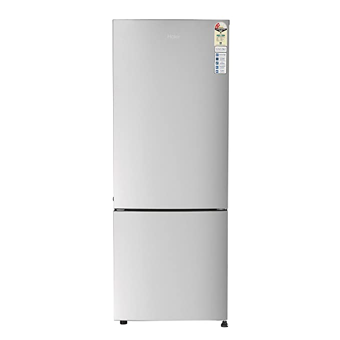 Haier 320 L 2 Star Inverter Frost Free Double Door Refrigerator  HRB 3404BMS E, Moon Silver,Bottom Freezer