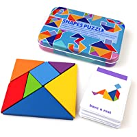 Early Development Tangram Kids Puzzle Box With 60 Cards (120 Puzzles)