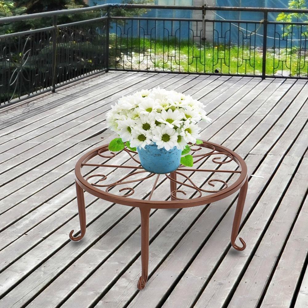 cour d/écoration de balcon. Starter Pot de fleur Stand 3 PCS int/érieur ext/érieur fer forg/é//Metal Art Plant Stand Rack Style europ/éen pot de fleur titulaire pour jardin