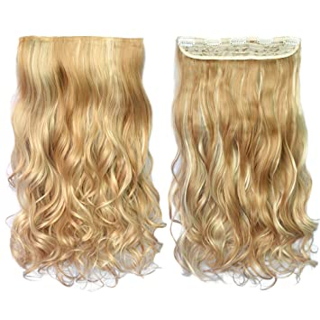 Amazon reecho 20 1 pack 34 full head curly wave blonde reecho 20quot 1 pack 34 full head curly wave blonde mixed hair pmusecretfo Images