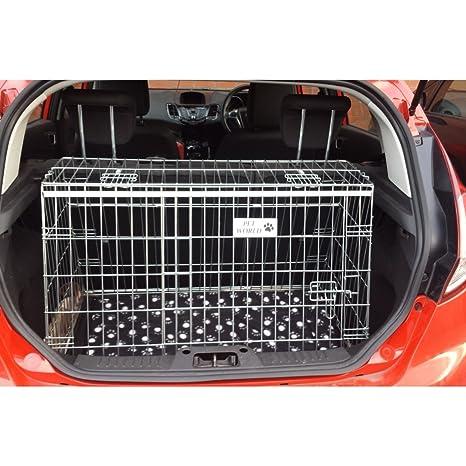 Ford Fiesta (02 - 08 - inclinado coche perro Jaula para viaje caja ...