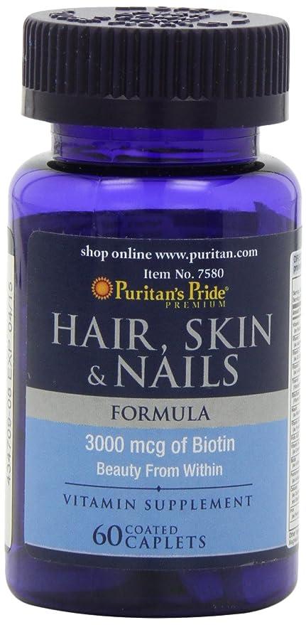 Vitaminas para la piel, el cabello y uñas 60 tabletas. Puritans Pride 1 und