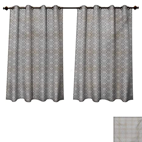 Amazon.com: RuppertTextile Black and White Bedroom Thermal Blackout ...