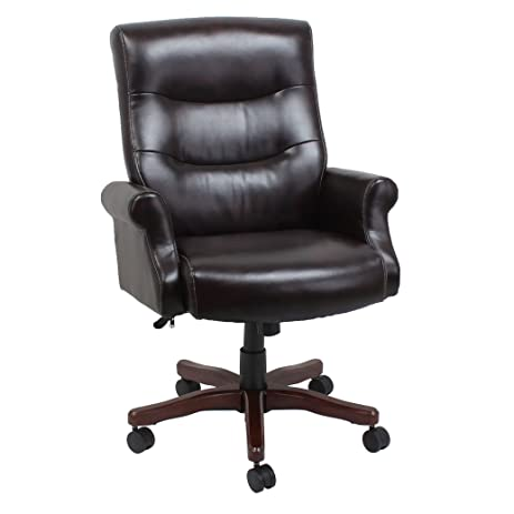 Barcalounger 80491H Bonded Leather Executive Chair, Brown