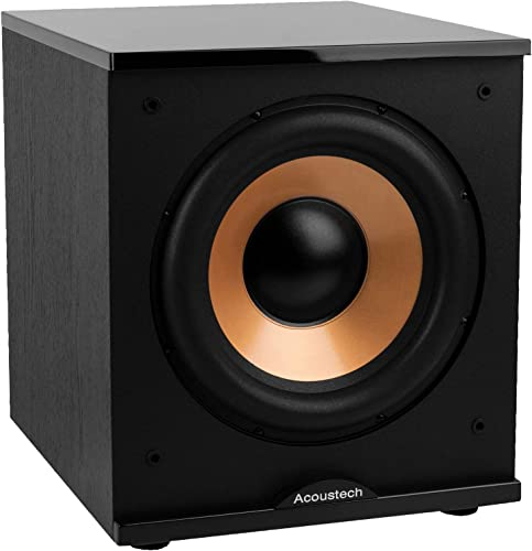 BIC America H-100II 12-Inch 150 Watt Front Firing Powered Subwoofer, Black