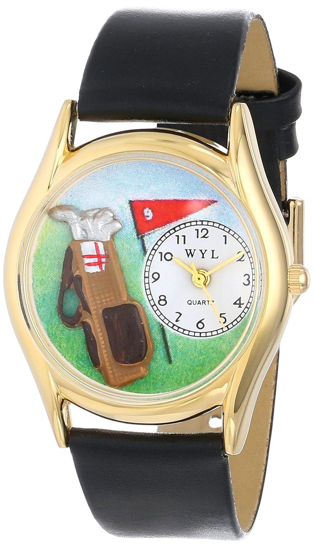 Whimsical Watches C-0820010 - Reloj analógico de cuarzo unisex, correa de cuero