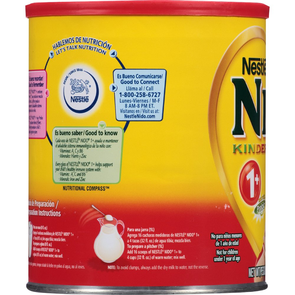 NESTLE NIDO Kinder 1+ Powdered Milk Beverage 1.76 lb. Canister by Nido (Image #6)