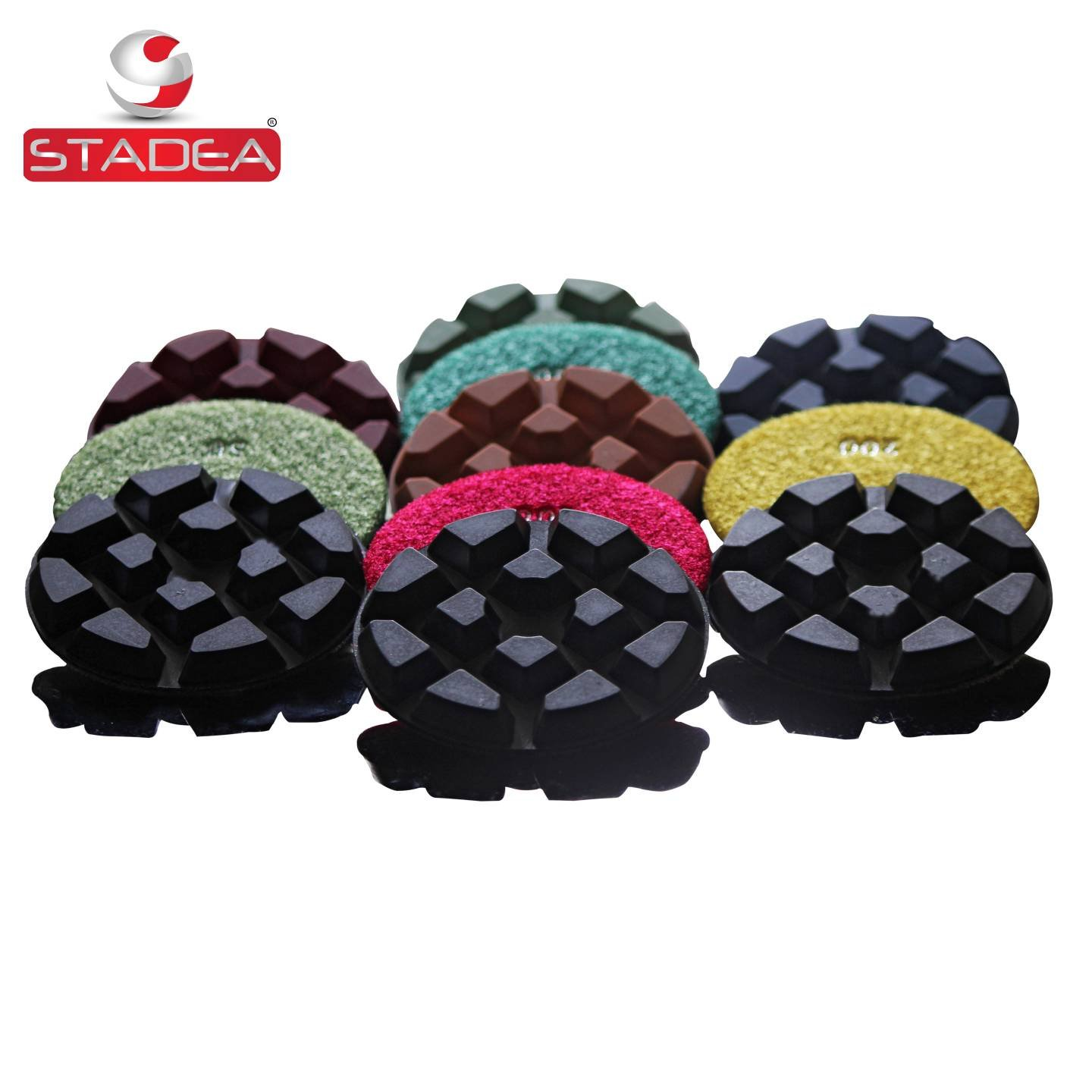 diamond floor polishing pads for floor concrete marble polishing - Set of 7 pads by Stadea