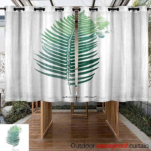 VIVIDX - Cortina para Exteriores, Impermeable, con Arandelas inoxidables, para Porche, pérgola, cabaña, Patio, cenador y casa de Playa (2 Paneles): Amazon.es: Jardín