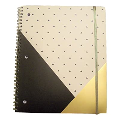Studio C Carolina Pad The Gold Digger Collection College Ruled Poly Gold Foil Cover Spiral Notebook with Elastic Closure (Positively Stunning, 8.5 Inches x 10.5 Inches, 80 Sheets, 160 Pages): Toys & Games