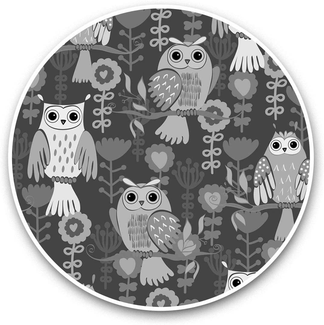 Vinyl Stickers (Set of 2) 15cm Black & White - Cute ky Wise Owls Animals Birds Laptop Luggage Tablet #41411