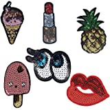 6 Pcs Iron On Patch Sew On Patch for Clothes Applique Craft DIY Accessories,6 Different Pcs by Crqes