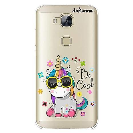 dakanna Funda Huawei G8 - GX8 | Unicornio con Gafas Frase ...