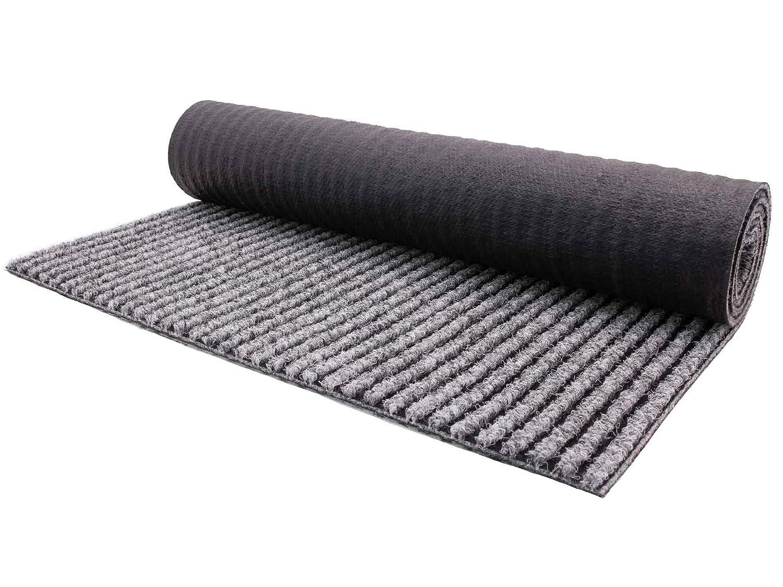 Primaflor - Ideen in Textil Sauberlauf Magnum Grau 1,00m x 4,00m - Teppichläufer Schmutzfangläufer Rutschfest, Küchenläufer Gangläufer Schmutzfangteppich