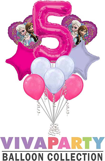Amazon.com: 11 pc Disney Frozen Globo de corazón ramo 5th ...