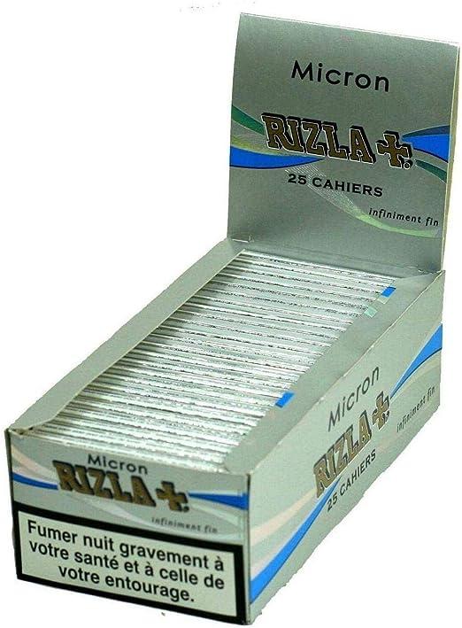 Rizla + Micron – Papel de Liar (Caja con 25 Paquetes: Amazon.es: Hogar
