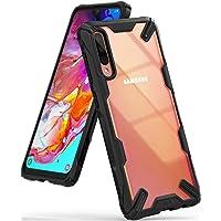 """Ringke Fusion-X Diseñado Cubierta con Tecnología de Absorción de Choques para Funda Galaxy A70 (6.7"""") - Black"""