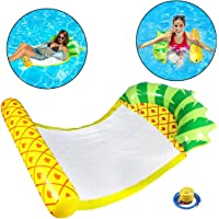Pool Float Inflatable Pool Float Adult Pool Toys Water Hammock Saddle Lounge Chair Hammock Drifter Portable Pool Chair…