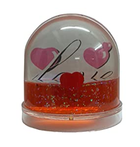 ATORAKUSHON Plastic Snow Globe Photo Frame (Multicolour) - 2 Photos