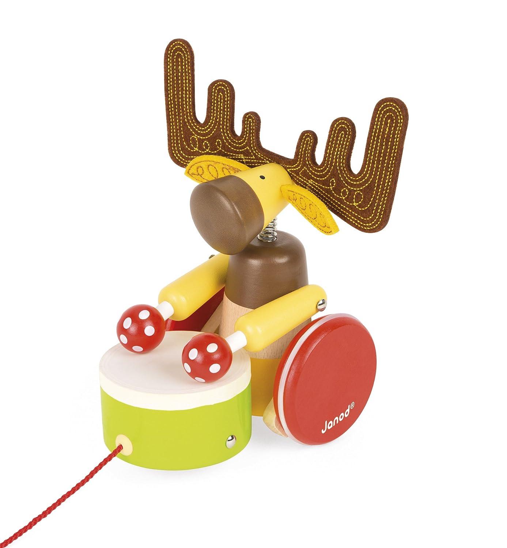 Janod Zigolos Pull Along Drum ELK Baby Toy
