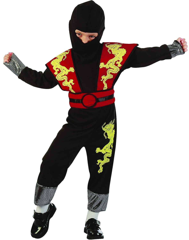 Disfraz de ninja amarillo y rojo niño - De 1 a 2 años ...