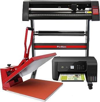 PixMax - Kit Plotter de Corte de Vinilo SignCut Pro, Prensa Térmica de 50cm e Impresora: Amazon.es: Electrónica