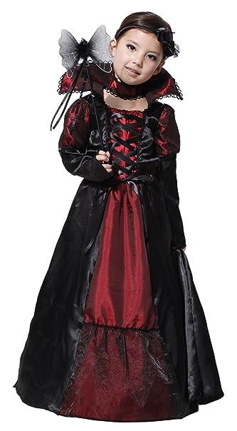 6f93b28d7bd8 EOZY-Costume Vampiro Bambina 4-12anni Stile Nobiltà Lussa Travestimento Carnevale  Halloween Cosplay: Amazon.it: Abbigliamento