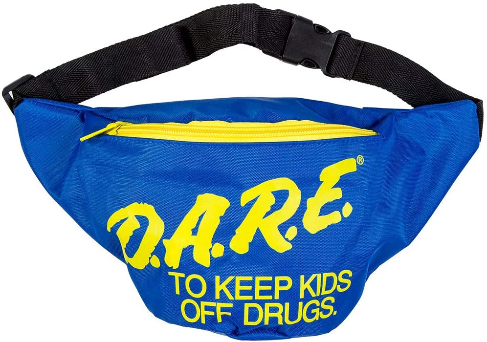 80s Fashion— What Women Wore in the 1980s Neon Retro DARE Fanny Pack Waist Bags with Adjustable Waist Straps (Neon Blue)  AT vintagedancer.com