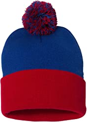 7b0d33ec1c9 SNAP SKULL Knitted Cuffed Pom Pom Beanie Winter Cap Unisex Hat Solid Color  Beanies Many Colors