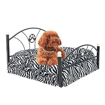 JILAN HOME- Camas para mascotas Cama para perros / gatos Cama para colchones de perlas para perros de perro suave y suave Cama para colchones de cebras para ...