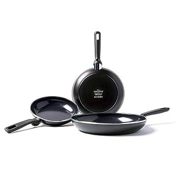 GreenPan CC001664-001 - Juego de sartenes, color negro: Amazon.es: Hogar