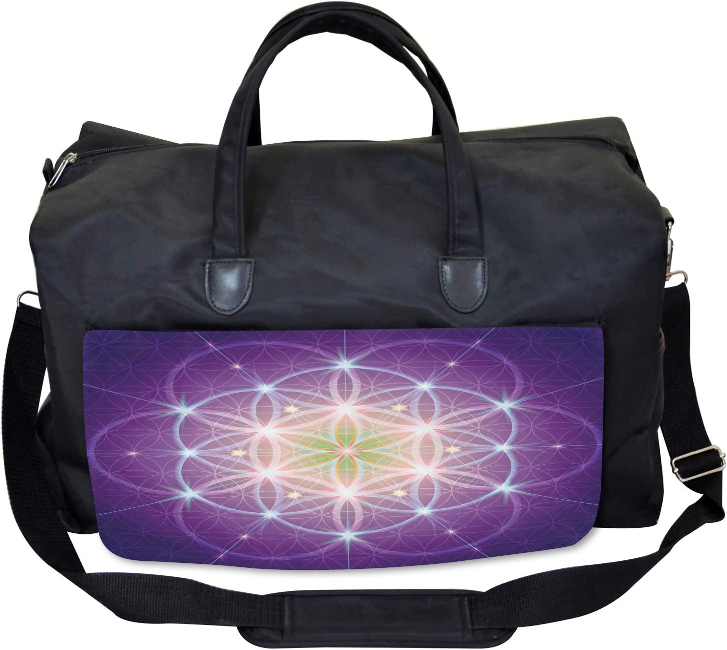 Large Weekender Carry-on Ambesonne Bohemian Gym Bag Sign of Cosmos Folk