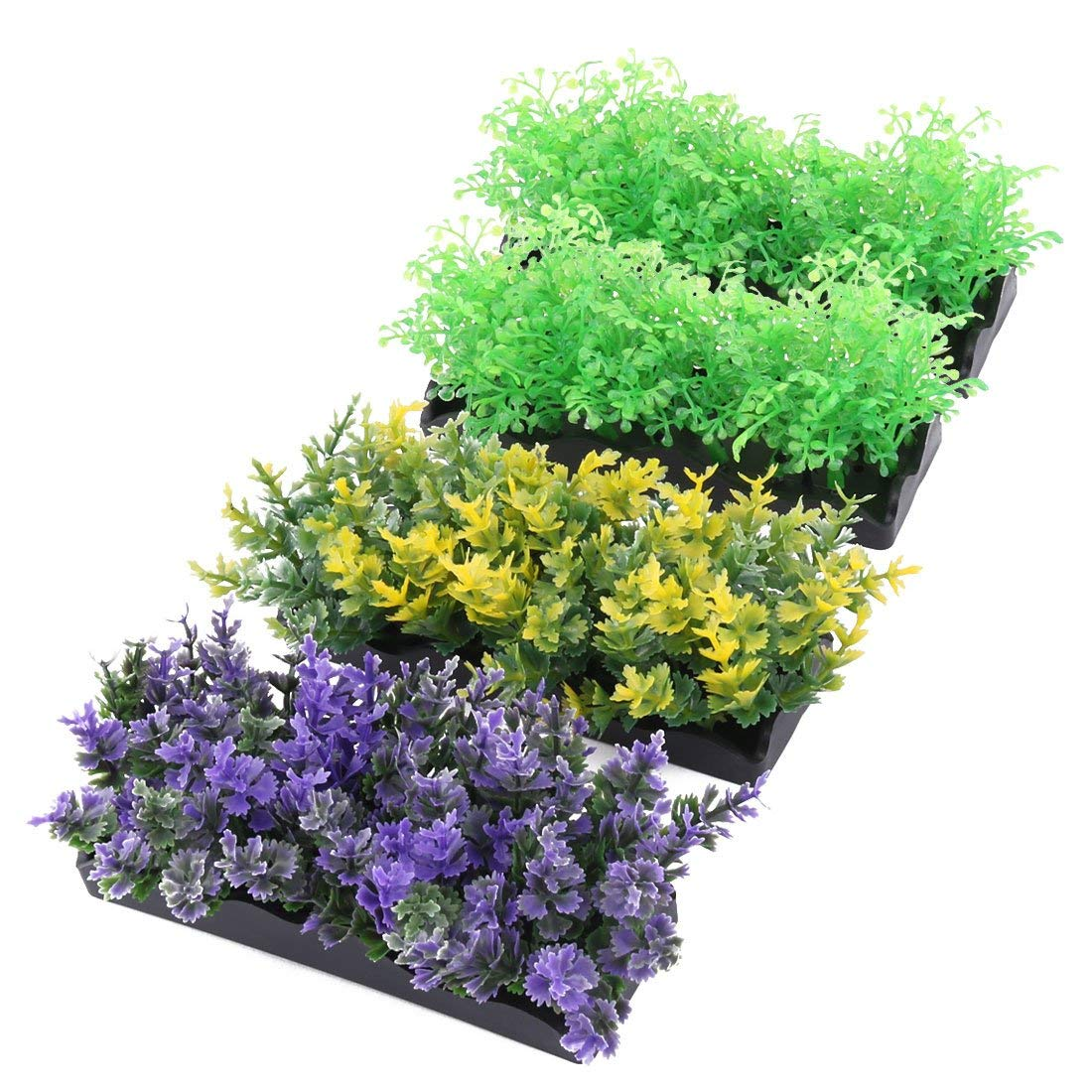 Aquarium Fish Tank Landscaping Artificial Grass Water Plants Decor Ornament 1.8 Inch Height 4pcs
