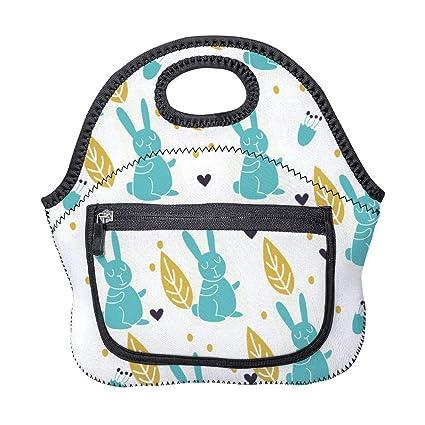 e2e071bd0afc Amazon.com: Insulated Neoprene Lunch Bag Tote Handbag lunchbox Food ...