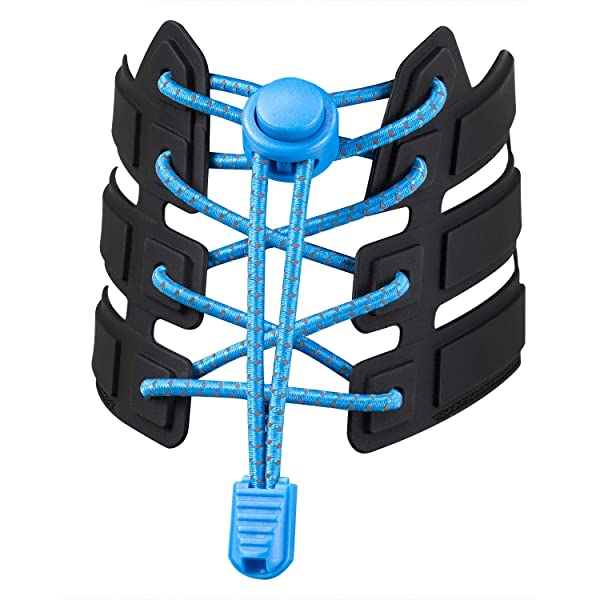 Shoelaces, UGY No Tie Shoelaces for All Adult and Kids Sneakers, Elastic Lock Shoe Laces Fits Hiking Boots, Board Shoes and Casual Shoes (Blue)
