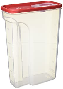 Rubbermaid Modular Food Storage Cereal Container with Flip Top, Large 22 Cup, Racer Red 1856060